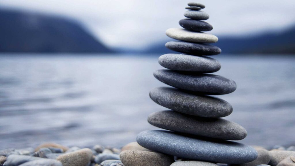 Zen stones stacked on top of each other.